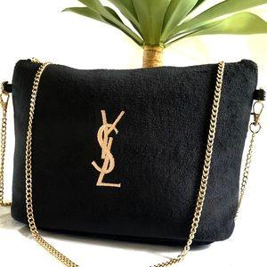 🌟 YVES SAINT LAURENT 🌟 black velvet makeup bag